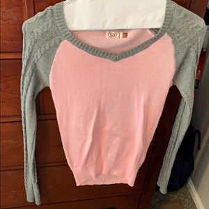 Pink and grey sweater